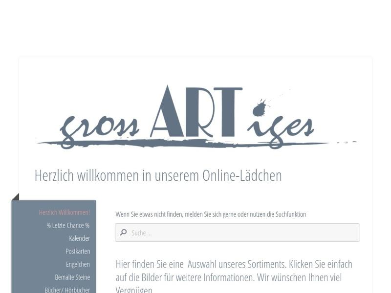 Screenshot von http://www.grossartiges-shop.de/